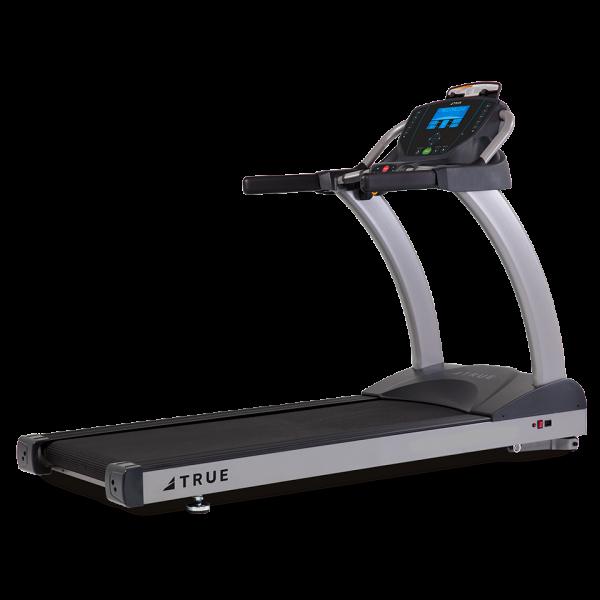 Three quarter view of TRUE Performance 100 Treadmill