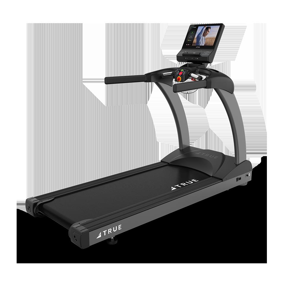 Three quarter view of TRUE 400 Treadmill