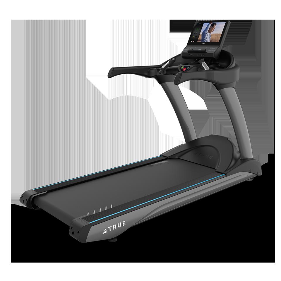 Three quarter view of TRUE 650 Treadmill