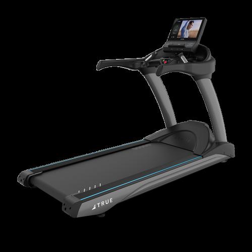 Three quarter view of TRUE 900 Treadmill
