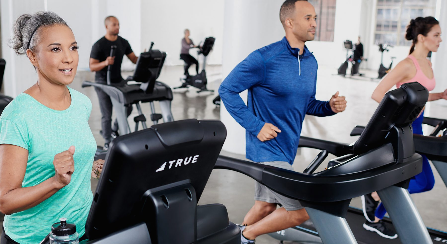 Cardio equipment from TRUE Fitness.