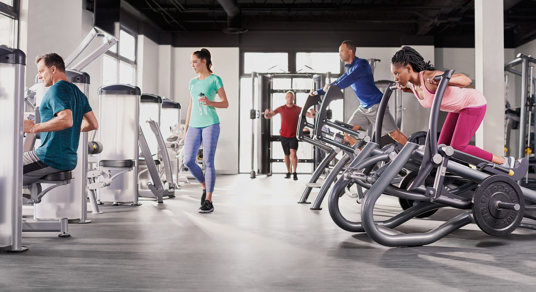 This is one of the health clubs with TRUE Fitness commercial equipment.