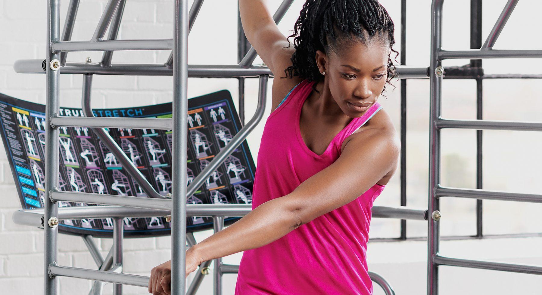 TRUE Fitness flexibility equipment.