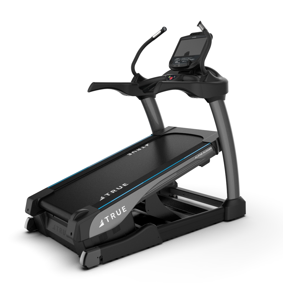 The Alpine Runner is a commercial treadmill.