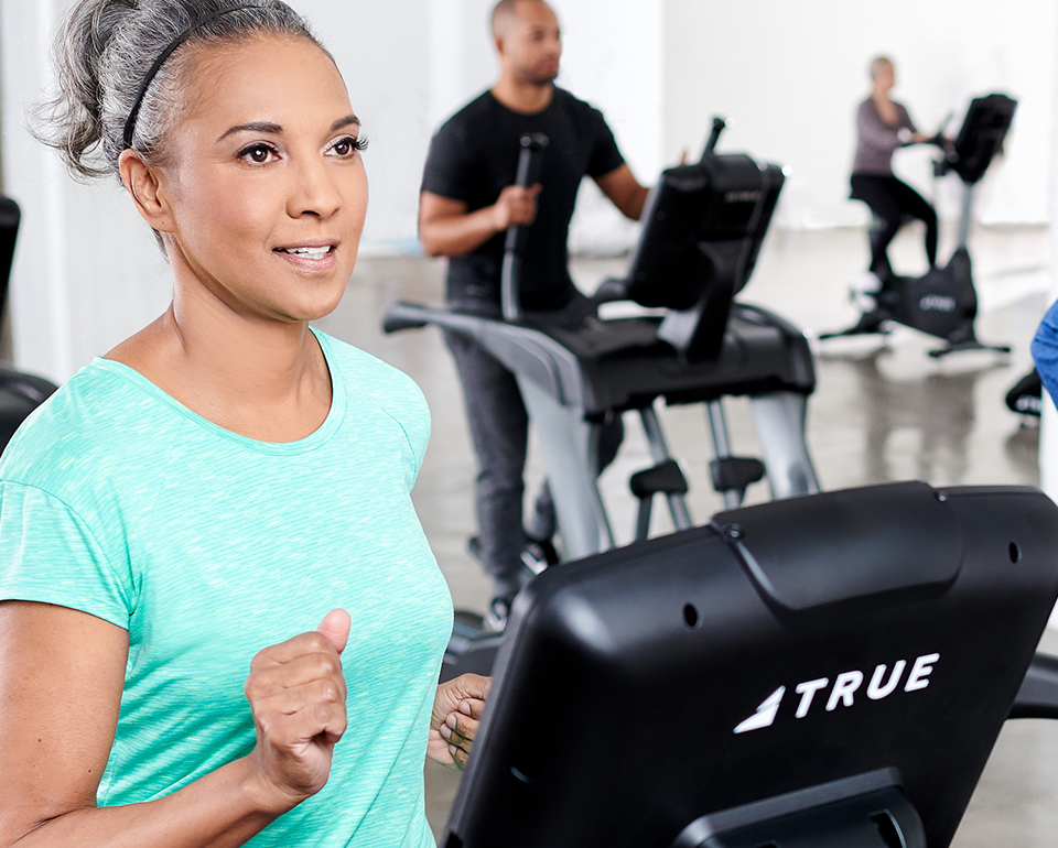 TRUE's commercial fitness equipment includes cardio products.