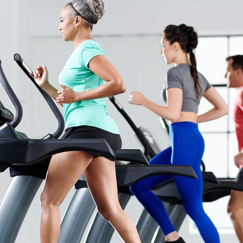 Group training can be done on TRUE's commercial fitness equipment.