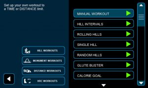 Workouts on Envision 9 Touchscreen Console