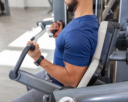Elbow Pads and Handle Assemblies for the SPL-0600 Biceps Curl machine.