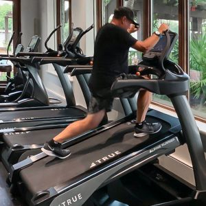 Using TRUE Fitness equipment at Frederica Golf Club.