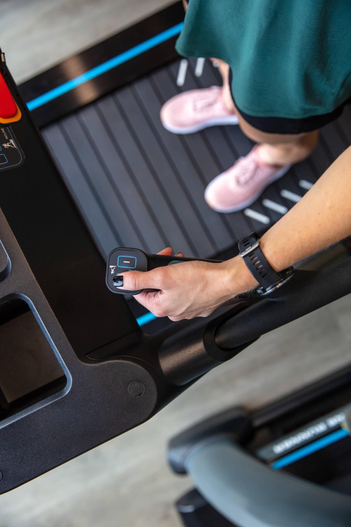 The Stryker treadmill.